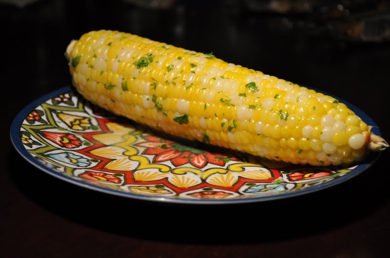 Slice of Rice: Roast Corn with Cilantro-Lime Butter