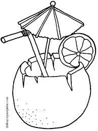 desenho drink com coco