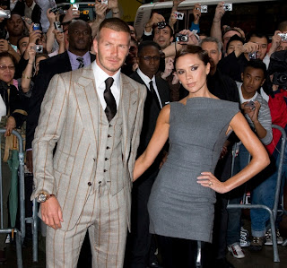 David Beckham with Wife