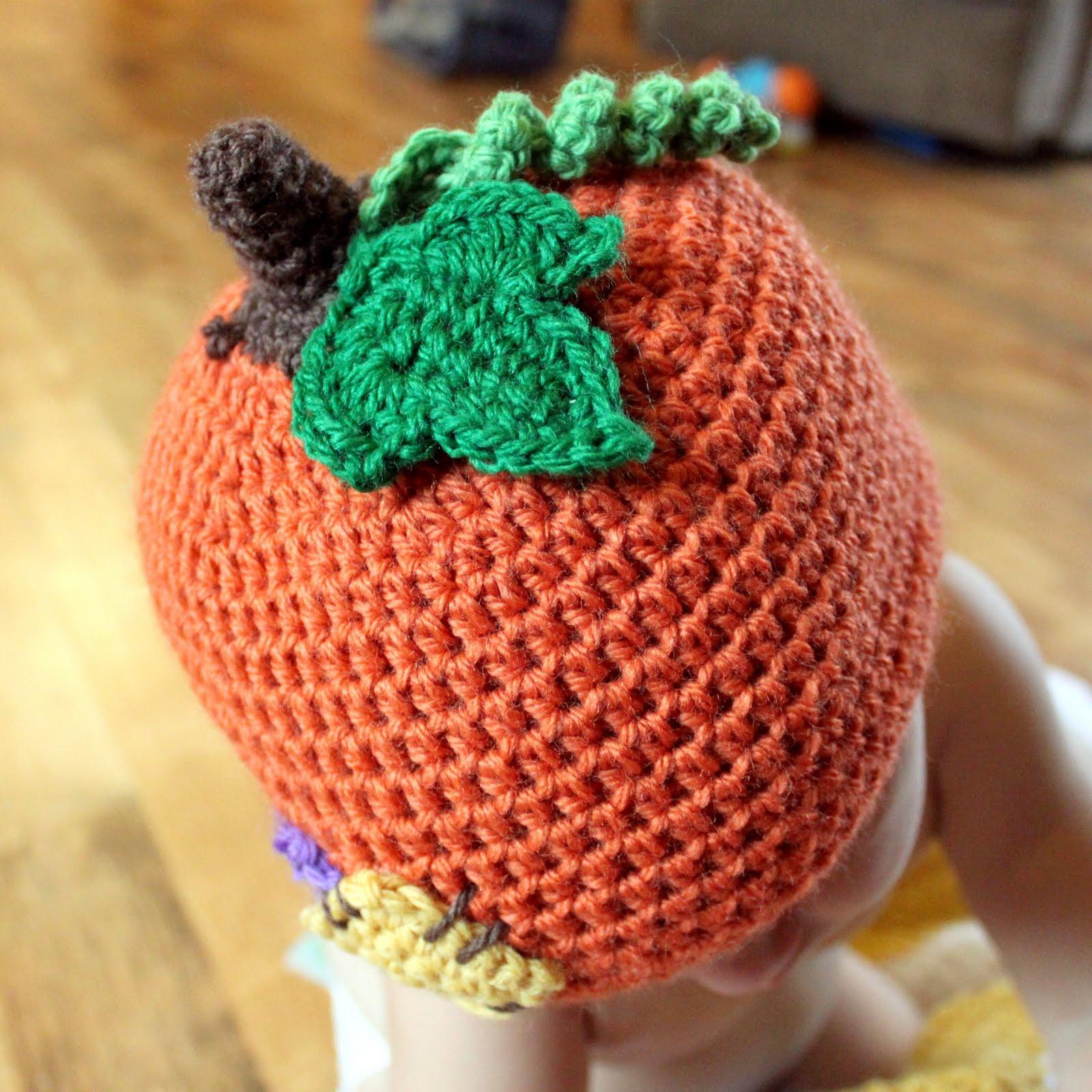 Free Newborn Pumpkin Hat Crochet Pattern : LilPumpkin Patch Hat Crochet Pattern - mamacheemamachee