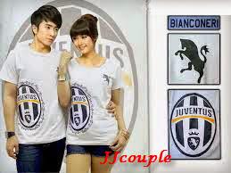 Bianconeri Juve (putih,hitam) , baju couple