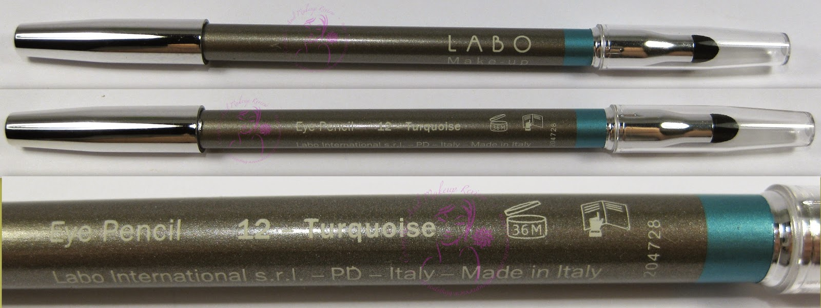 Labo Make-Up - Fashion Treatment Eye Pencil n° 12 -Turquoise/Turchese - packaging