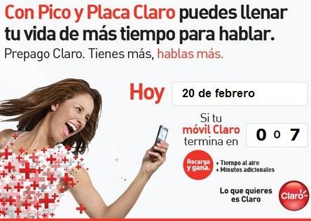 placa claro hoy Miércoles 20 de febrero 2013 pico y placa comcel