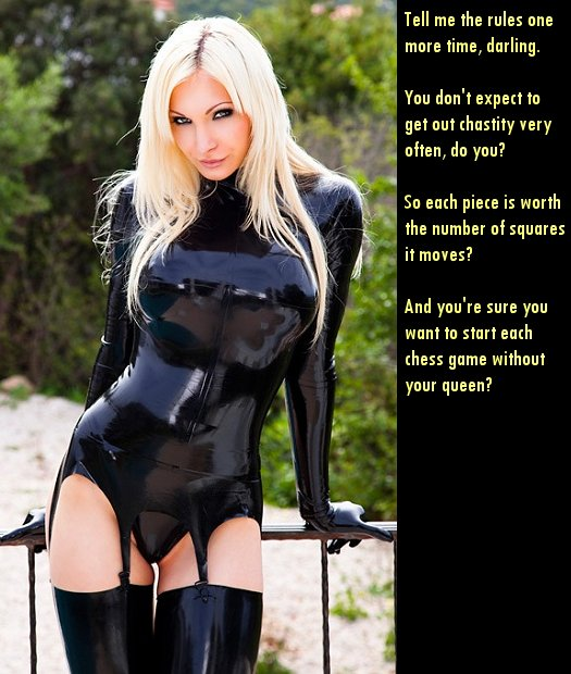 Bondage chastity captions