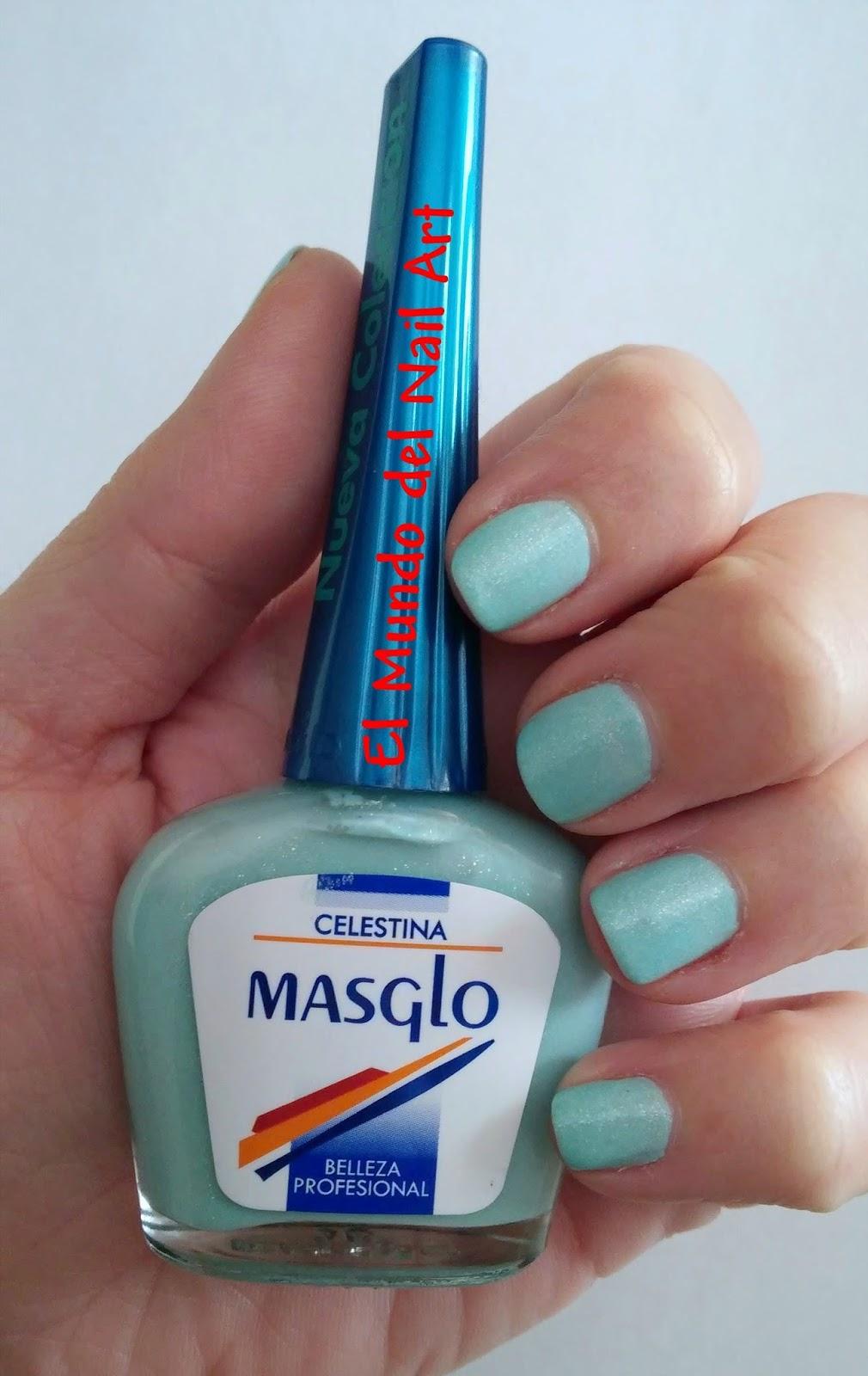 El Mundo del Nail Art: Manicura Celestina #Masglo