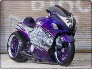 Purple custom bike