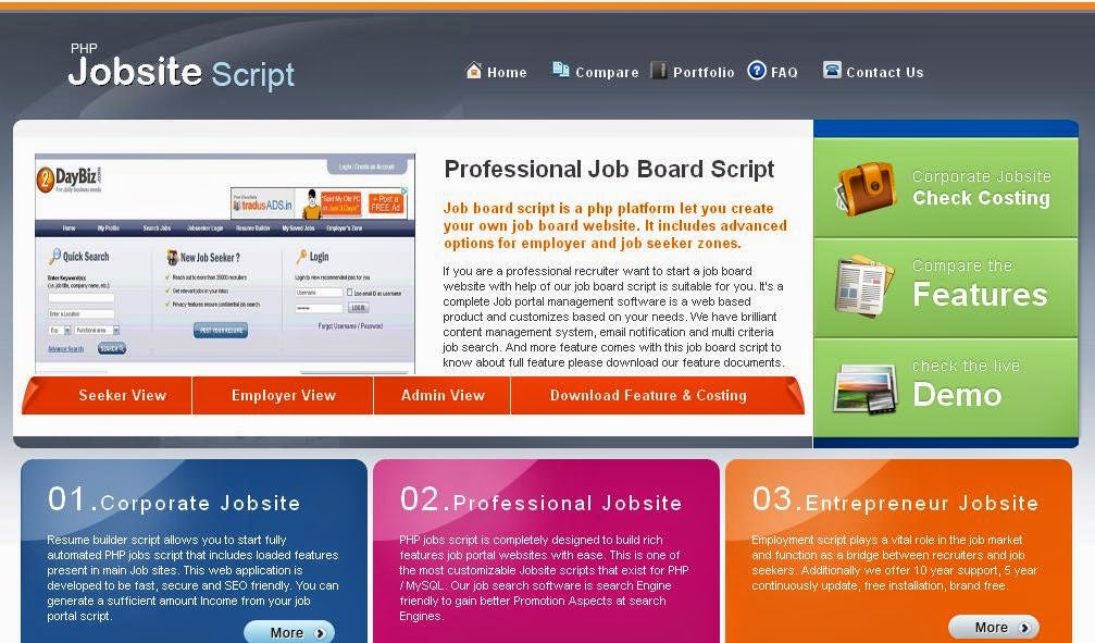 php script board script employment script