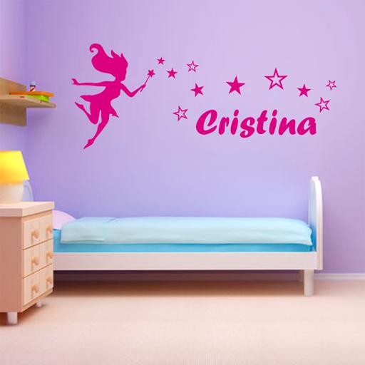 Vinilos baratos 5 ideas para decorar una habitaci n infantil for Vinilo habitacion nina