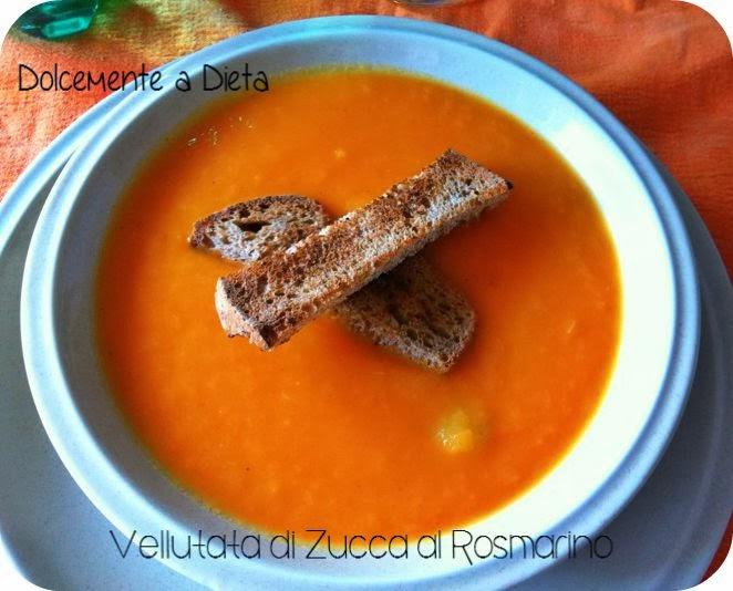 ricetta salata: vellutata di zucca al rosmarino
