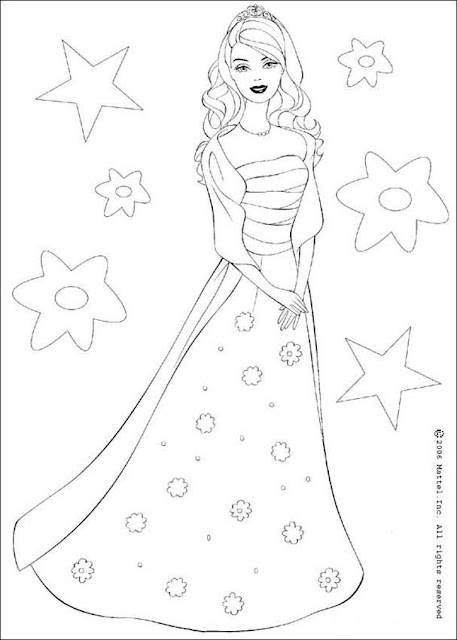 Barbie Free Coloring Pages