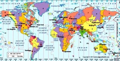 pembagian waktu akibat rotasi bumi