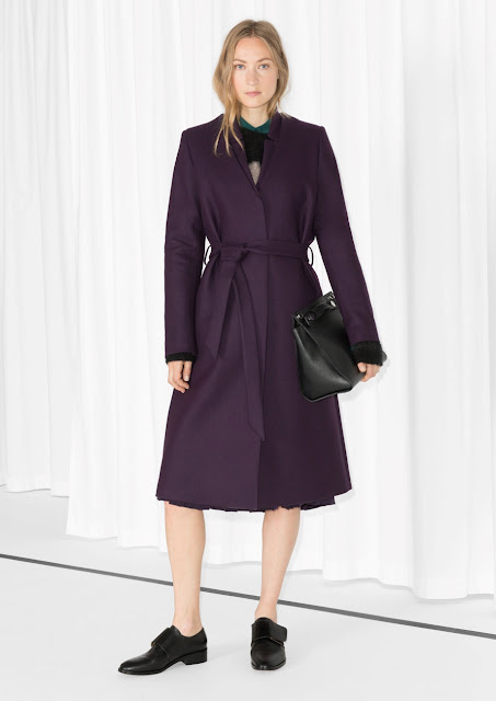 purple winter coat, stories purple coat,