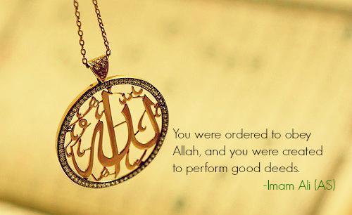 You were ordered to obey Allah, and were created to perform good deeds.