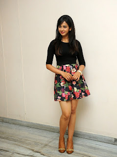 Actress Rakul Preet Singh Pictures in Floral Short Skirt at Rough Teaser Launch  17