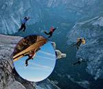 Foto Ekstrim Pendaki dan Jumper Tak Kenal Rasa Takut Pada Ketinggian Tanpa Tali Pengaman