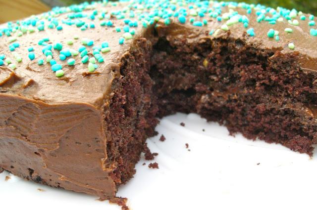 Chocolate Cake with Chocolate Fudge Frosting recipe