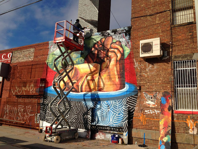 """Plastic exercise to describe the alteration of reality II"" New Street Art By Ever In Bushwick, New York City.4"