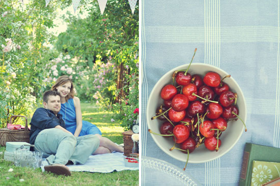 Un'engagement session a tema picnic vintage: Chiara e Flavio  by http://landvphotography.it