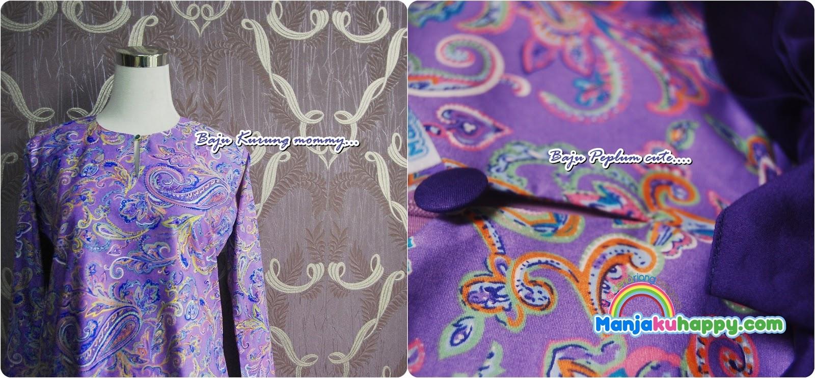 Baju Sedondon Ibu dan anak -purple paisley