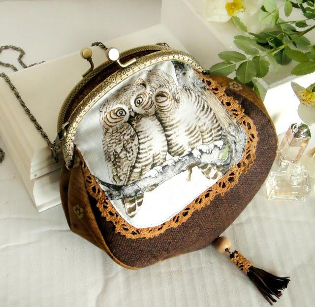 Сумочка на цепочке Сова Owl - подарок девушке, подарок дочке