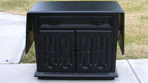 Black Vintage Buffet  *SOLD*