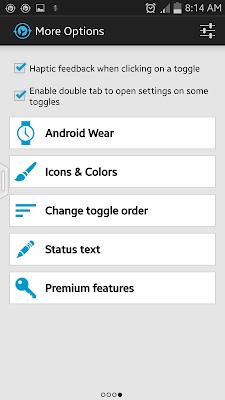 Notification Toggle option