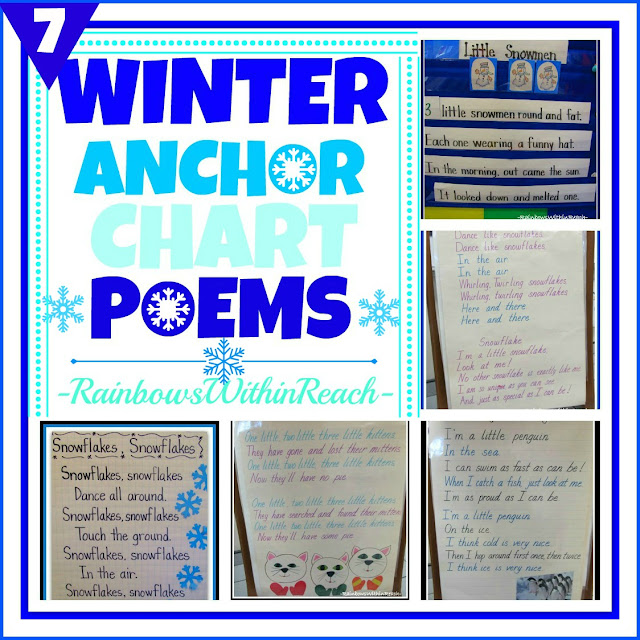 photo of: Winter Poem Rhyme Anchor Charts via RainbowsWithinReach