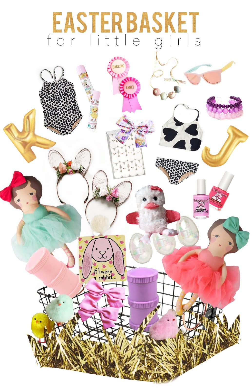 A little jk easter basket ideas for your little girls seeing you put together little holiday breakfast set ups fun decor and celebrating all these fun holidays with things that i actually shared with you negle Choice Image