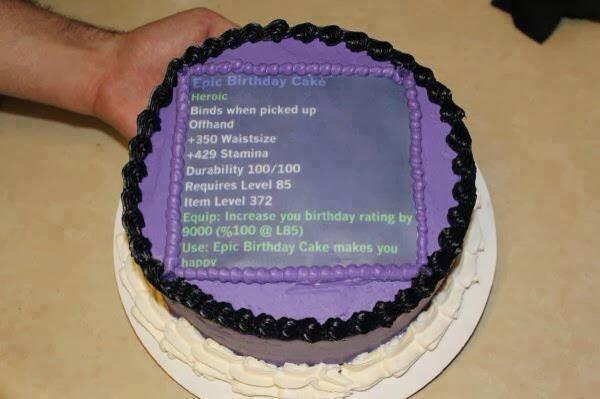 Master of World of Warcraft : epic birthday cake
