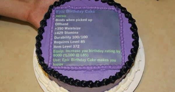 master of world of warcraft   epic birthday cake