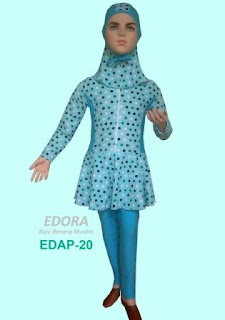 Edora Baju Renang Baju Renang Anak Polkadot Biru