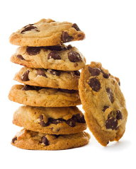 Stack of chocolate coookies