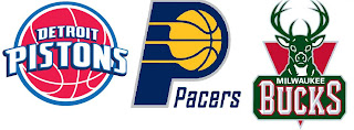 Detroit Pistons, Indiana Pacers, Milwaukee Bucks