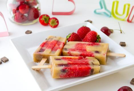 Men light helados light de yogurt con frutas - Como hacer helados caseros ...