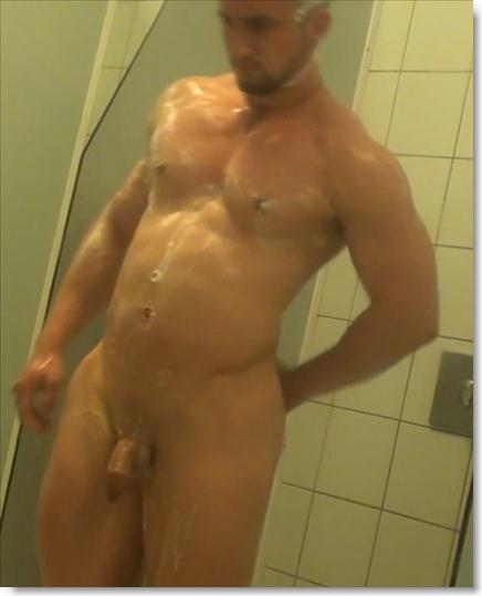 Hidden camera nude male