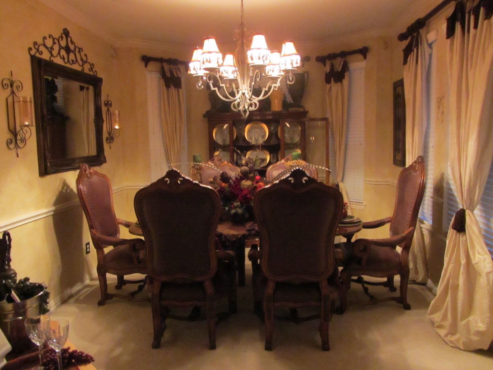 Embellishments By SLR Old World Tuscan Dining Room