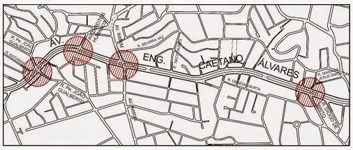 Sinalização Frente Segura na Av. Eng. Caetano Álvares