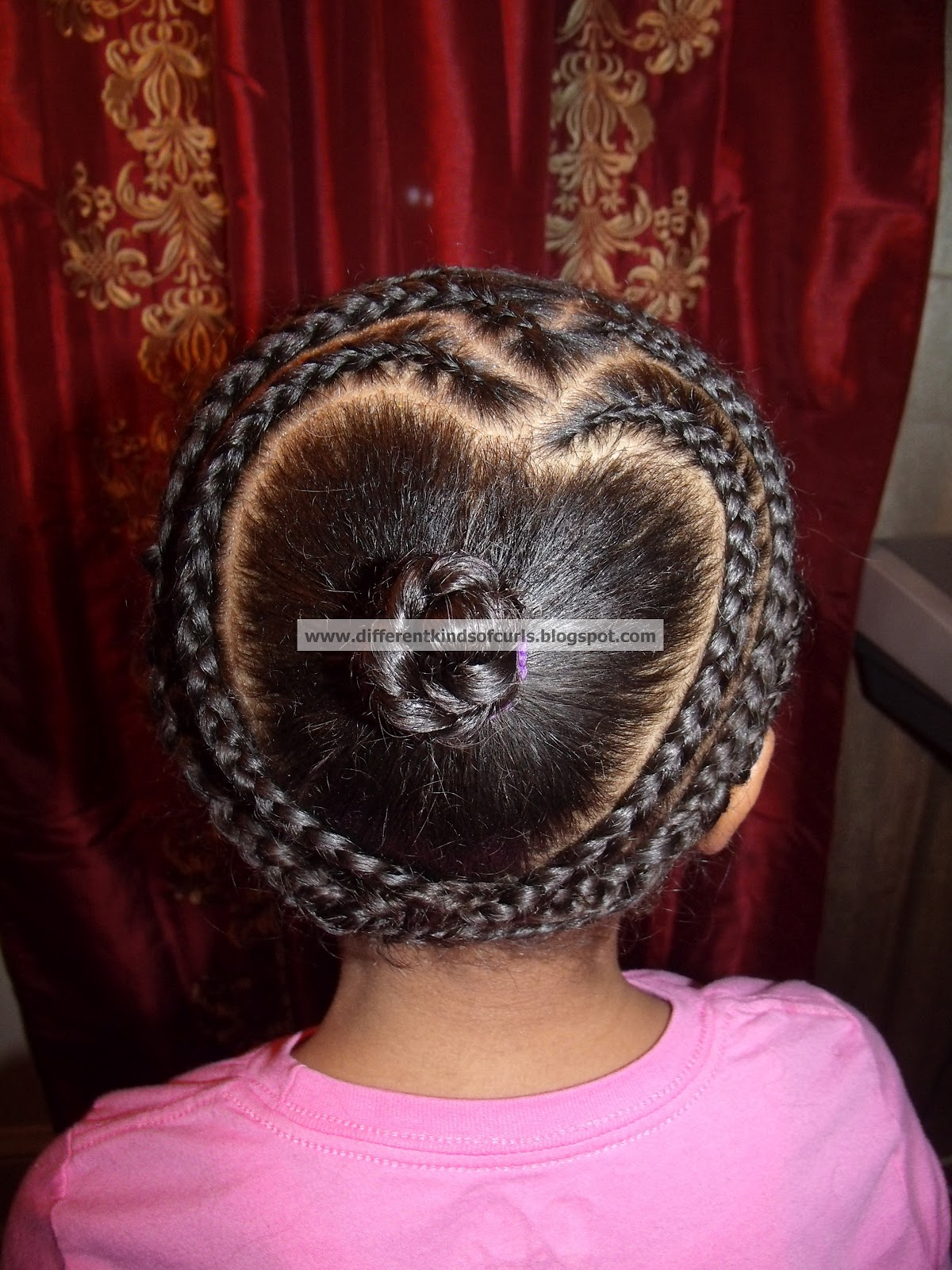 Cute protective valentine s day hairstyle for kids