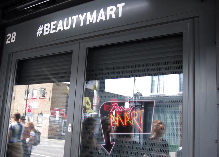 A picture of BeautyMart in Boxpark, Shoreditch, London