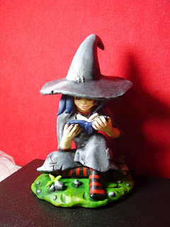 orme magiche morgana strega streghetta statuette sculture action figure personalizzate fatta a mano