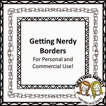 Free Square Black Frames / Borders by Getting Nerdy with Mel and Gerdy