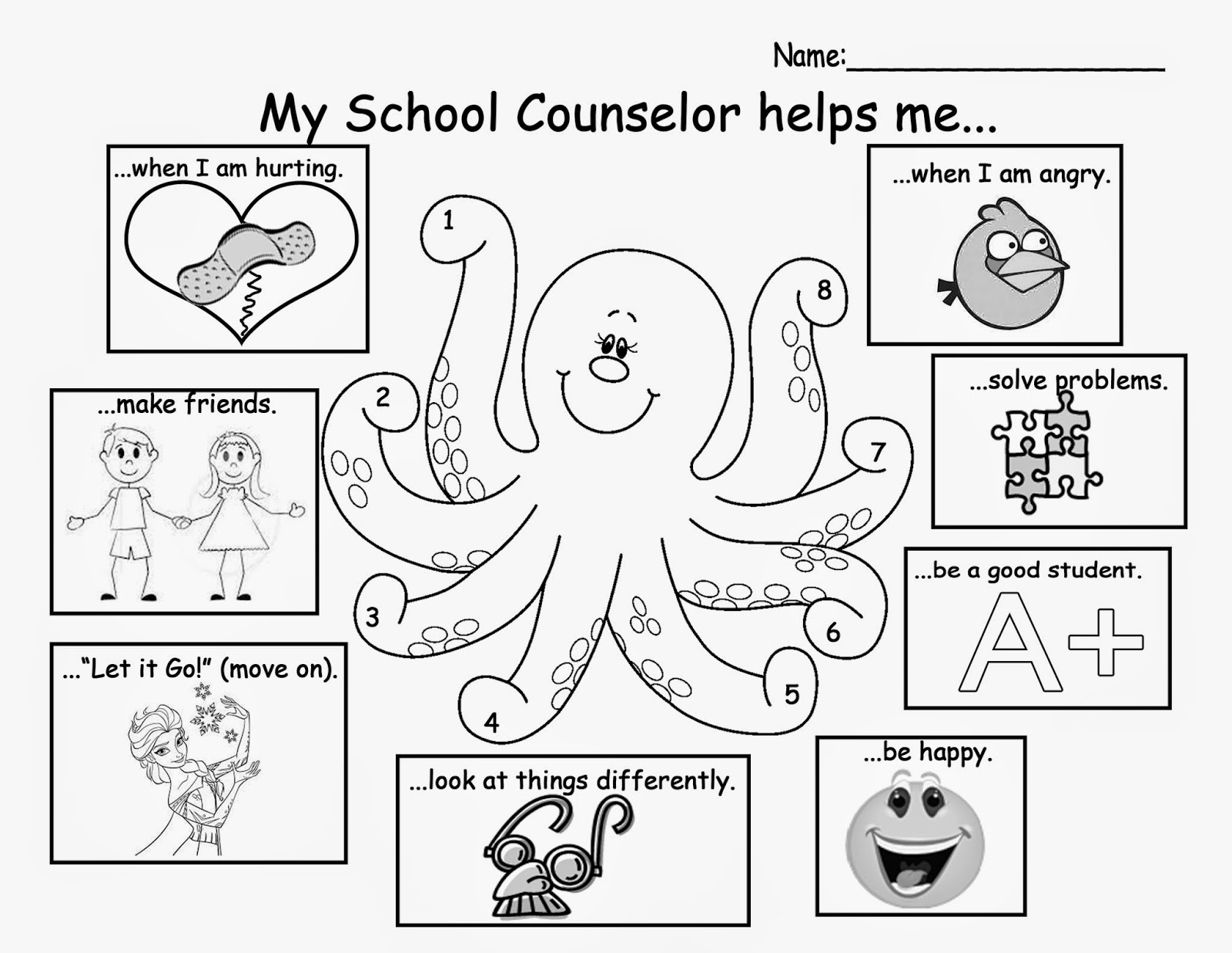 This is a graphic of Crush School Counseling Activities