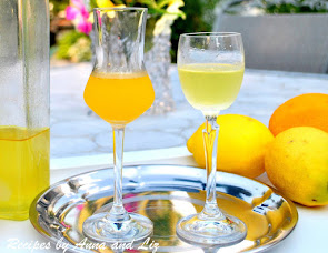 Home-made Limoncello and Arancello