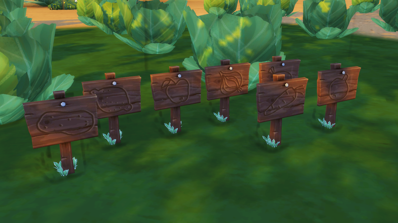 my sims 4 blog  garden signs by budgie2budgie