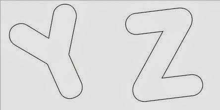 Moldes de Letras - Letras do Alfabeto - STUVWX