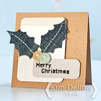 Jean upcycle Christmas Card tutorial