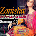 Lavish Embroidered long Kurti with Capri Trouser by Zanisha Summer-15