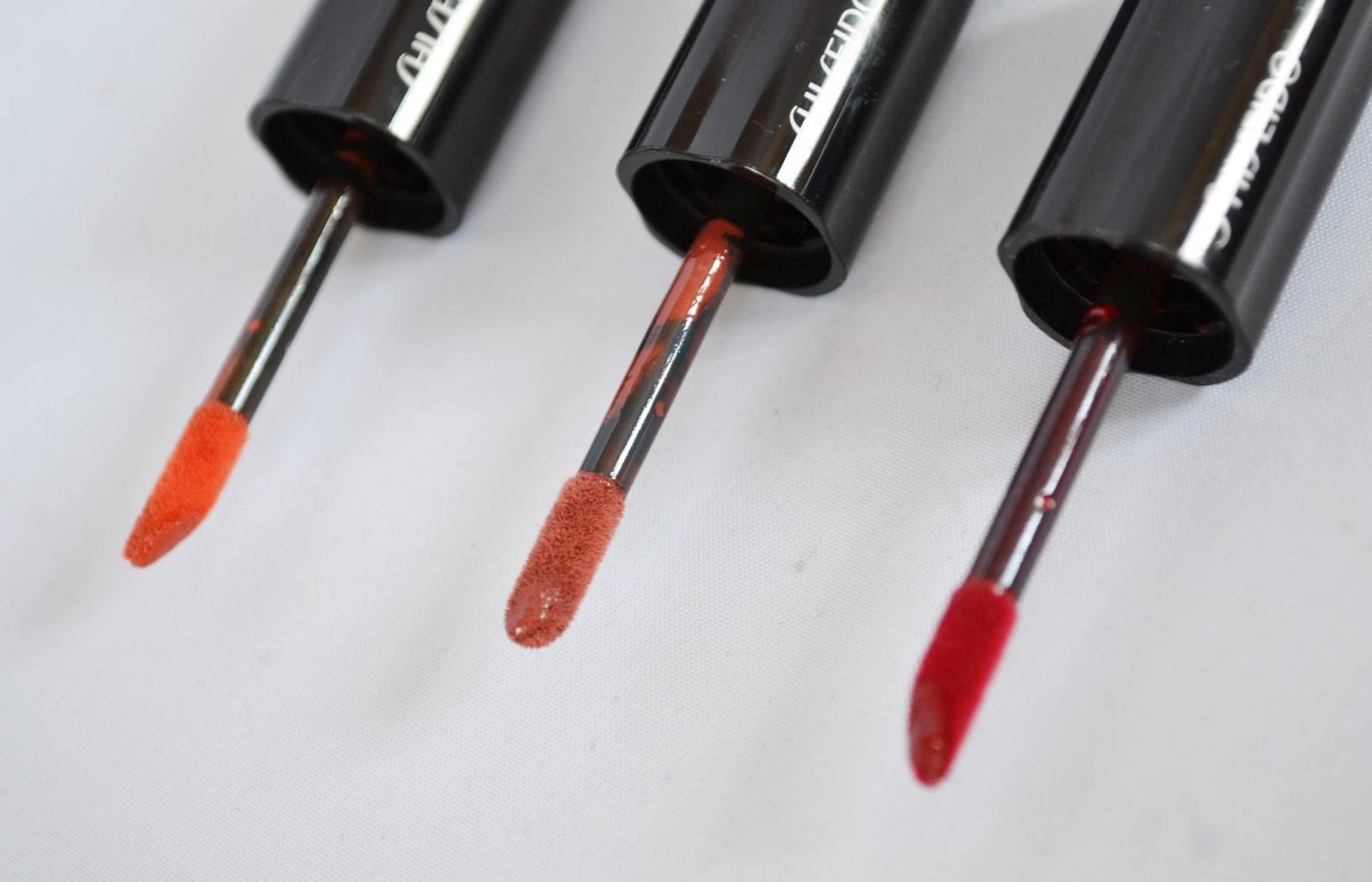 instant de fille  mes laques de rouge shiseido