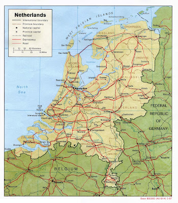Map of Holland Cities Pictures