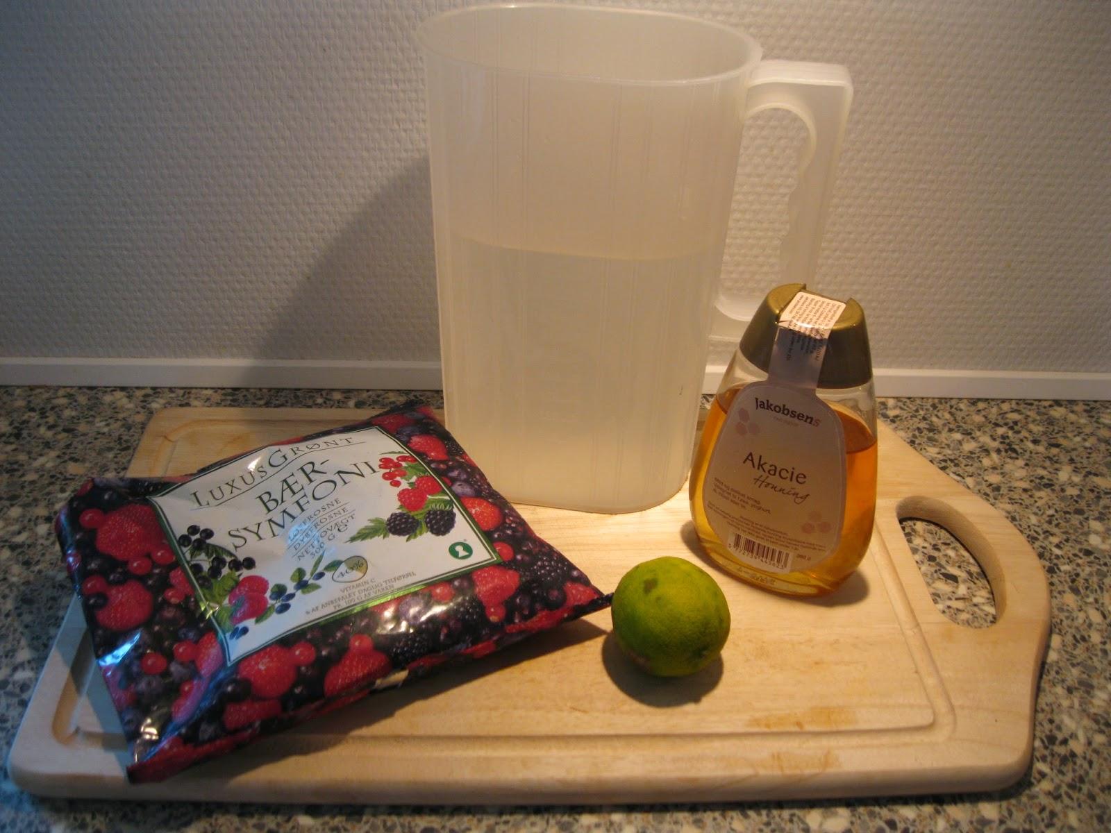 hjemmelavet saftevand uden sukker